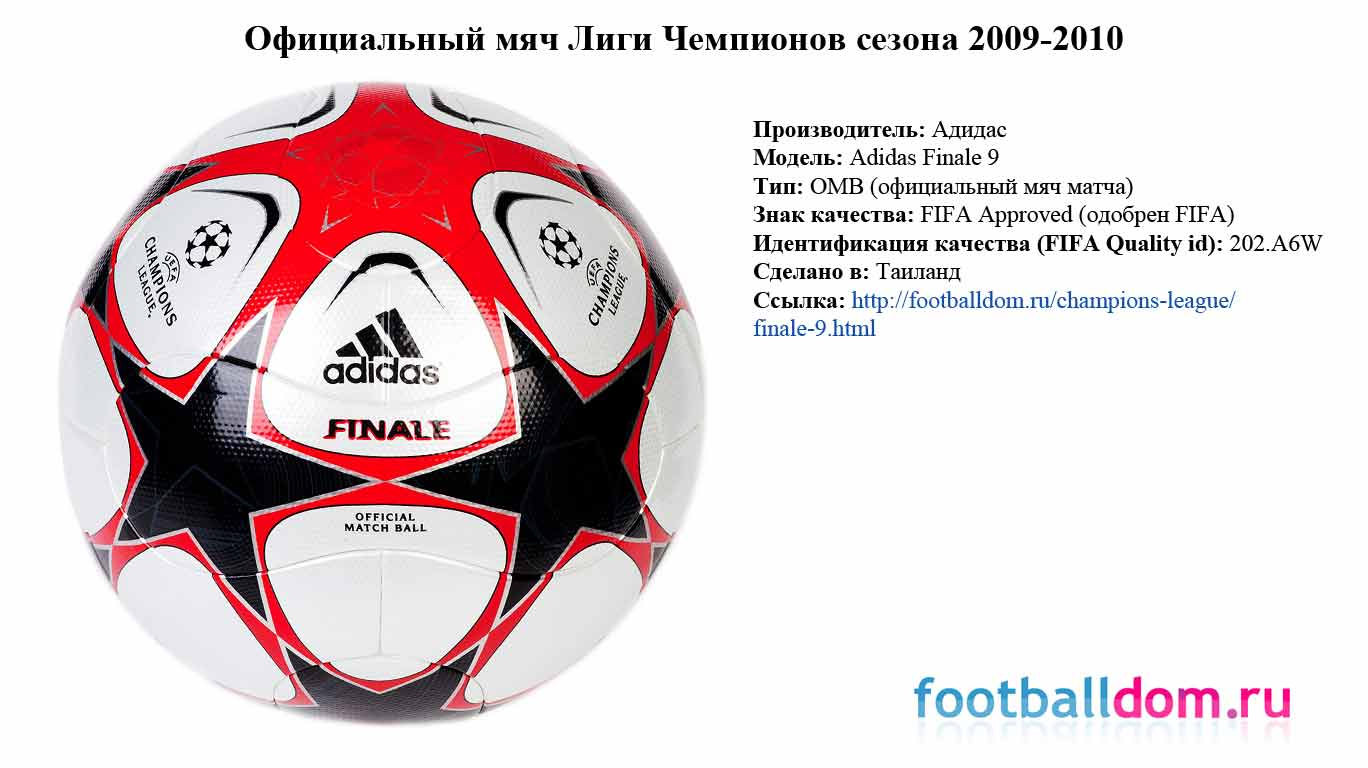характеристики мяча adidas finale 9