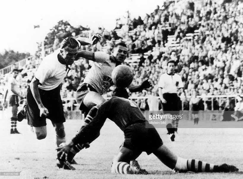 Четверть финал, Германия-Бразилия, Олимпиада 1952