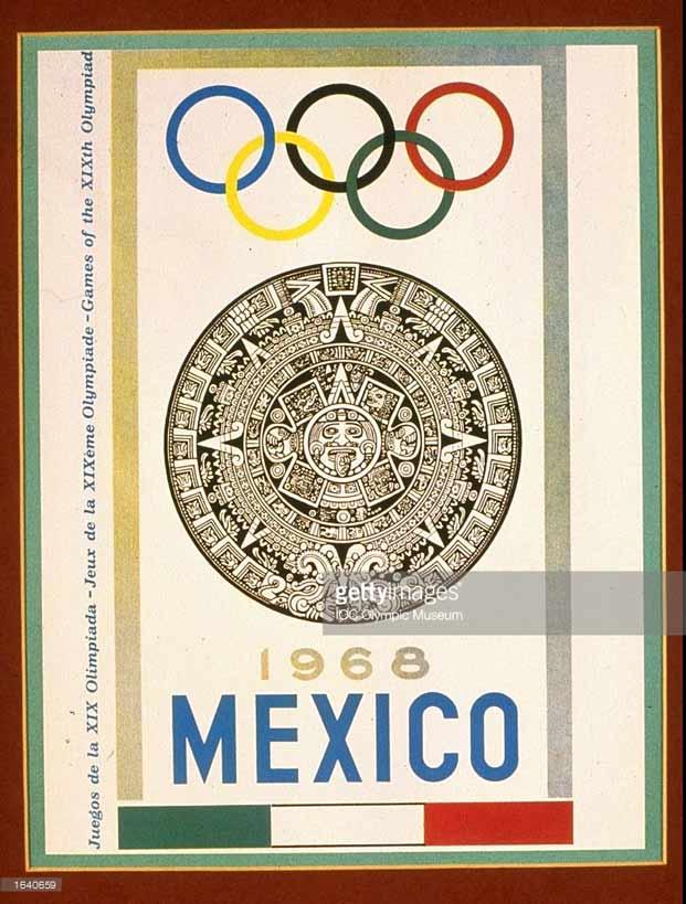 Постер Олимпийских игр 1968 в Мексике