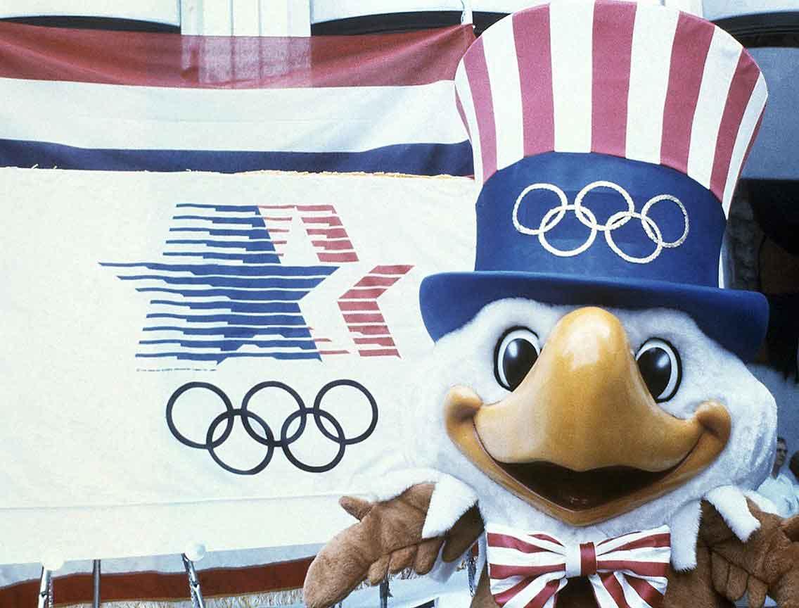 Талисман Олимпийских игр 1984 орлан Сэм